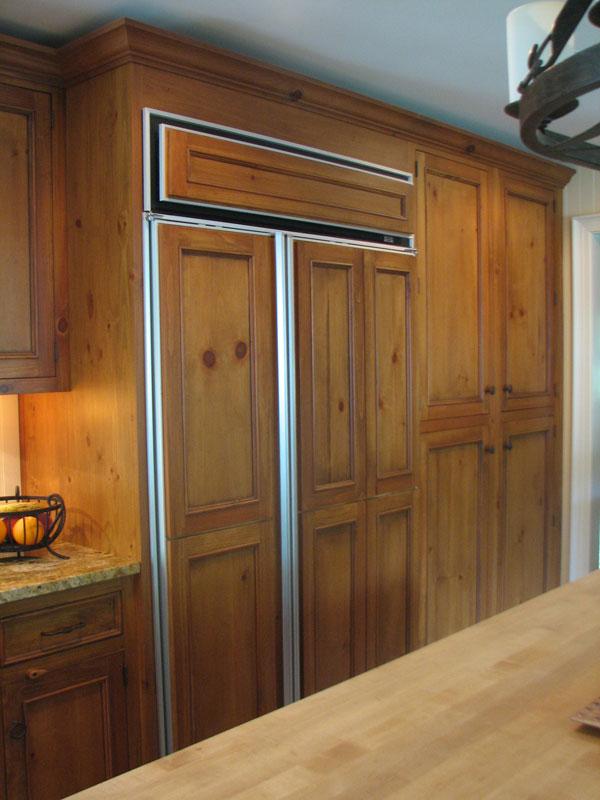 Wood Panels Sub Zero Refrigerator With Wood Panels